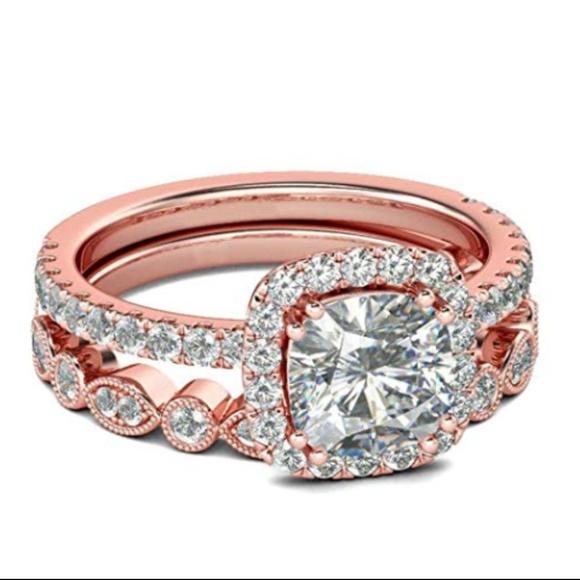 C.C. Boutique Jewelry | Rose Gold Diamond Wedding Band Engagement ...